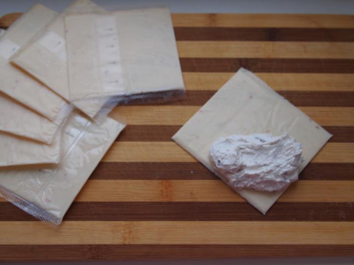 Рулетики из сыра с творогом