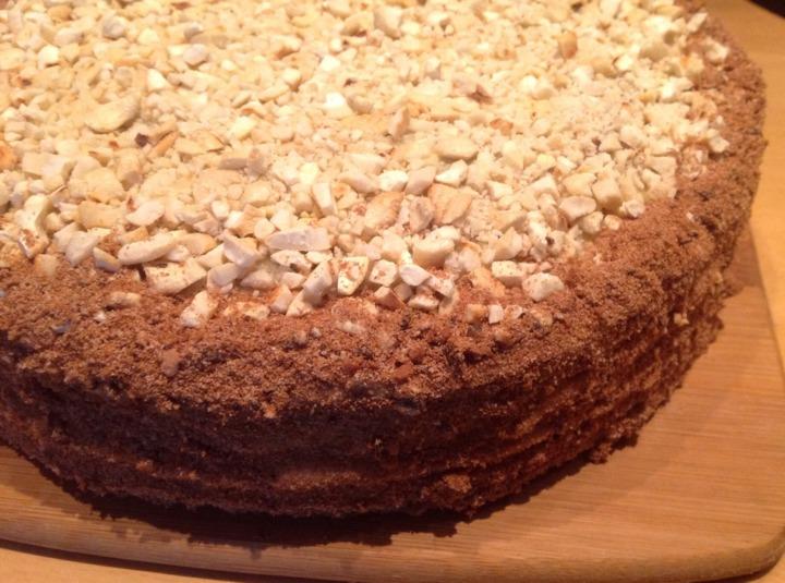 Медовый заварной торт
