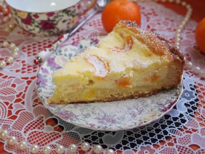 Творожный пирог с мандаринами