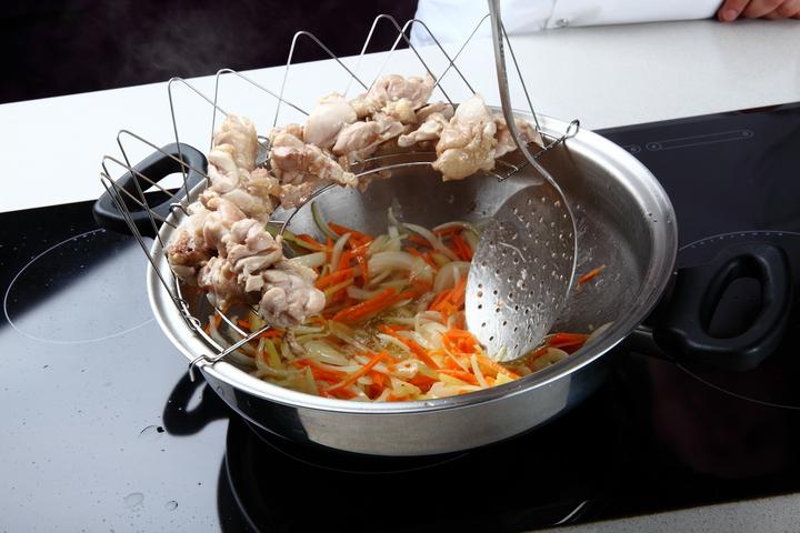 Курица карри с рисом и овощами