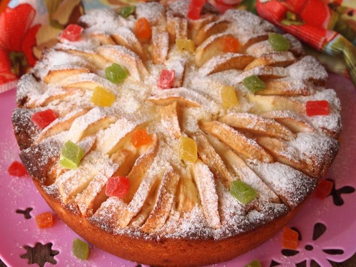 Творожно-яблочный пирог