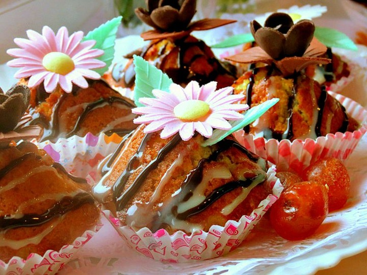 Апельсиновые кексы с кумкватом