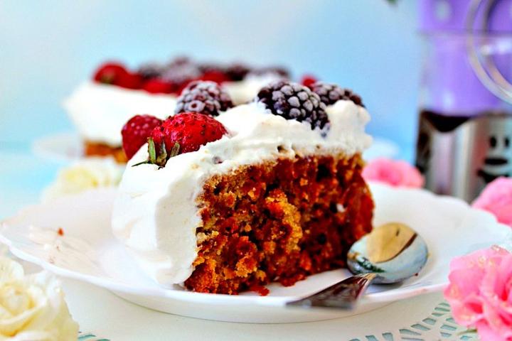 Свекольный кекс с имбирем