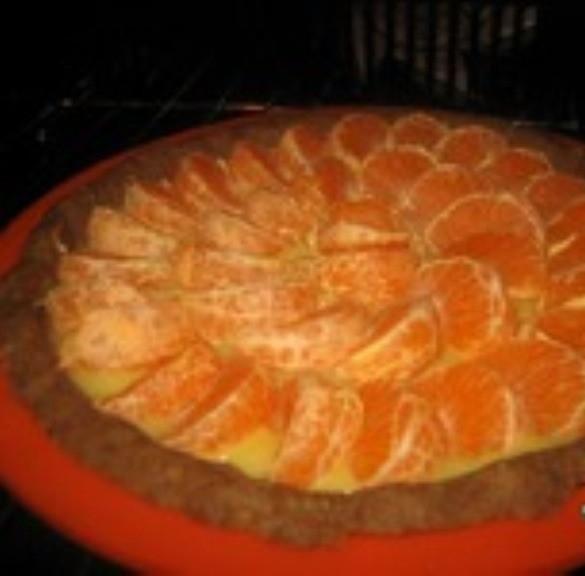 Мандариновый пирог с лимонным курдом