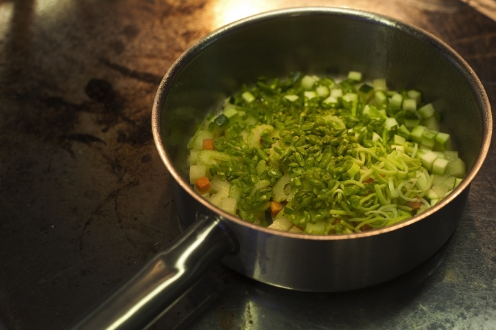 Прованский суп с фермерскими овощами и пастой