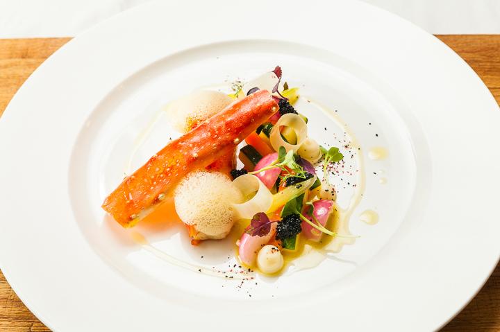 Камчатский краб с мини-овощами