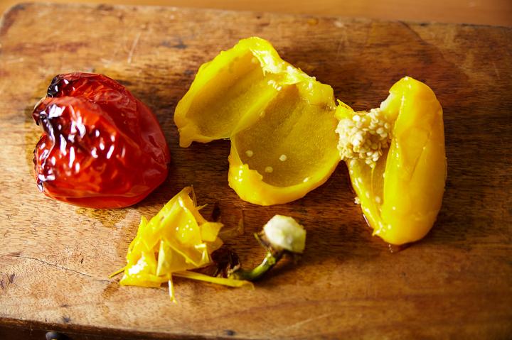Овощной микс с печенью трески