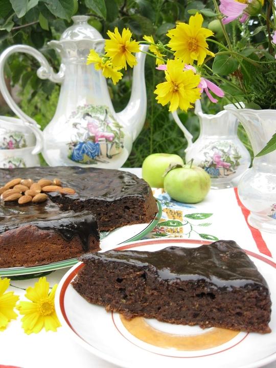 Шоколадно-кабачковый кекс