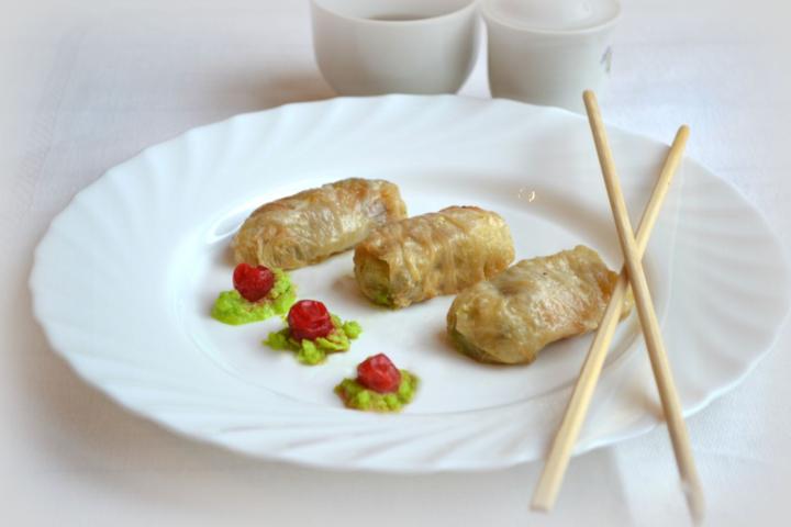 Постные голубцы из пекинской капусты