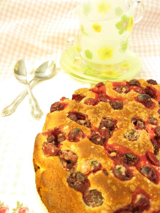 Ягодный пирог с кукурузной мукой