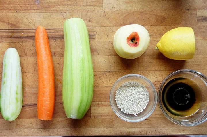 Феттуччине из овощей