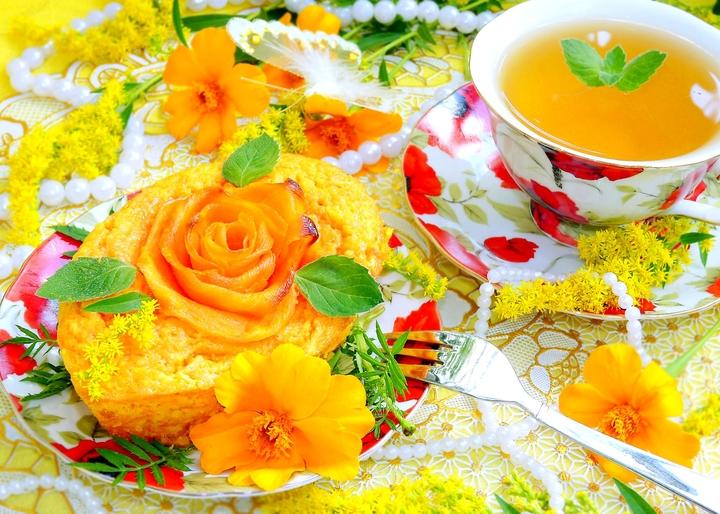 Морковно-апельсиновое пирожное