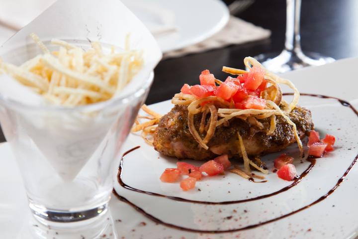 Куриное филе под тапенадом карри