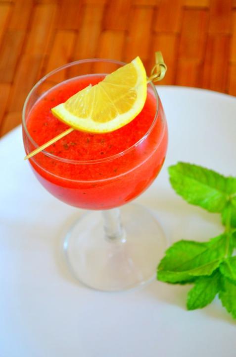 Арбузный фреш с мятой и лимоном