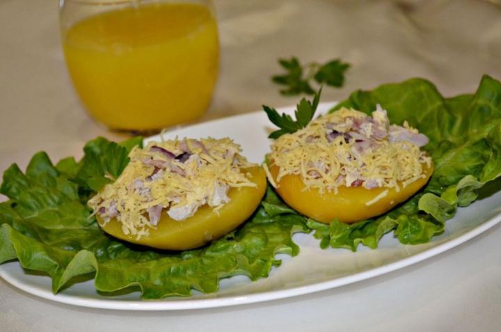 Фаршированные персики
