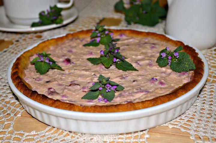 Творожно-вишневый тарт
