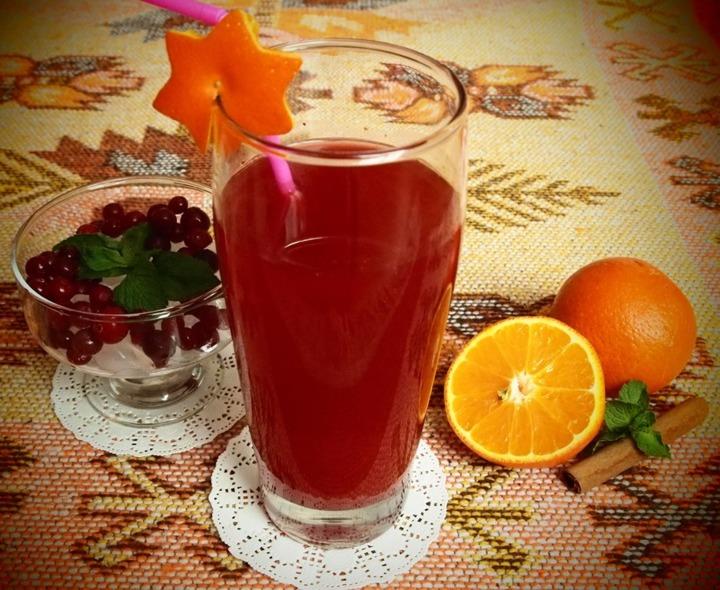 Клюквенно-апельсиновый морс