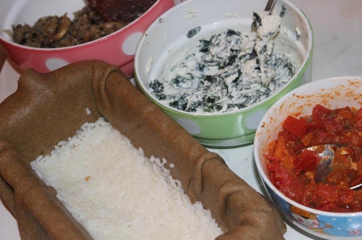 Кулебяка с овощами