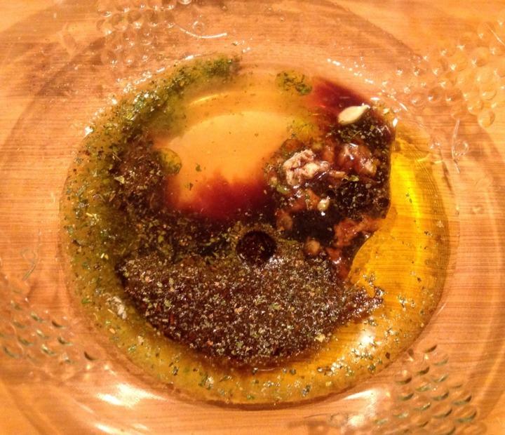 Салат-гриль с морскими гребешками