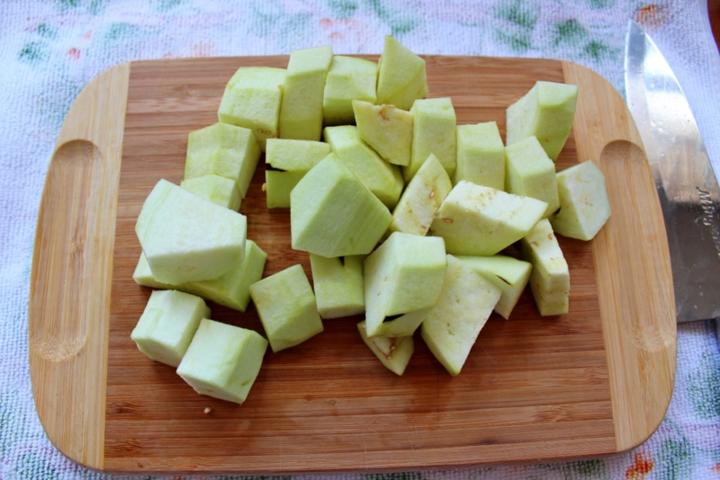Острый шашлык с курицей и овощами